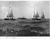 Merlins sailing in 1956