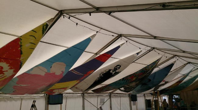 Art Sails on display at Downs