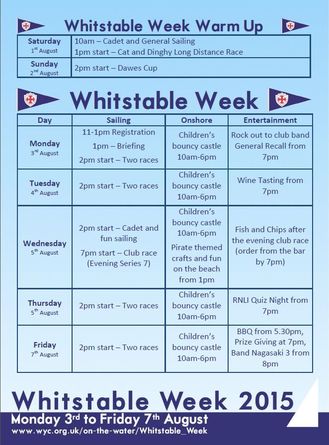 Whitstable Week 2015 Programme